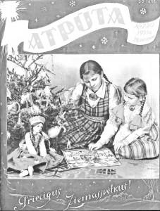 """* TOREIZ. 1939. gada 22. decembra žurnāla """"Atpūta"""" vāks, kas veltīts Ziemassvētku sižetam par latviskajām tradīcijām ģimenēs."""